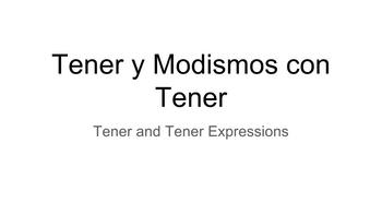 Tener and Tener Expressions Lesson (Powerpoint and Cornell Notes)