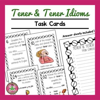 Tener and Tener Idioms Task Cards