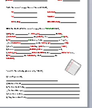 Tener conjugations Worksheet
