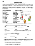 Tener expressions- Notes, vocabulary list and practice