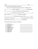Tener, possessive adjective Spanish Quiz-- Realidades 1 Ch. 5A