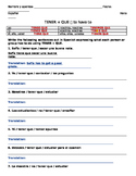 Tener + que Sentence Practice - Avancemos 1 Unit 2 Lesson 1