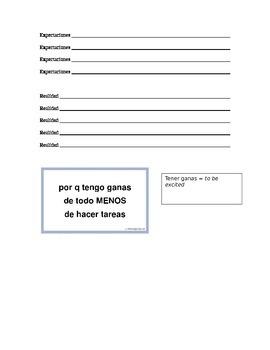 Tener que and Ir a practice / Realidades 1 4b and Realidades 2 1a