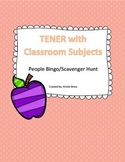 Tener with School Subjects and Time Conversation Activity