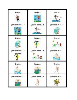 Deportes (Sports in Spanish) Tengo Quién tiene