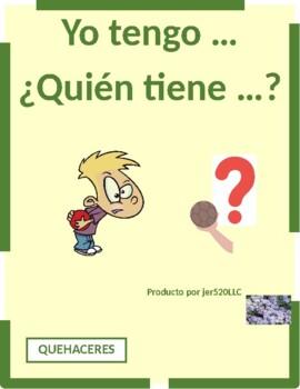 Quehaceres (Chores in Spanish) Tengo Quién tiene
