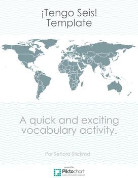 Tengo Seis Dice Vocabulary Game