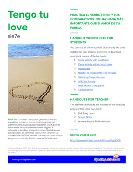 Tengo tu Love: Song Activities to Practice the Verb TENER and Comparisons