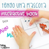 Animal Interactive Preschool Associations book in Spanish for Speech Therapy