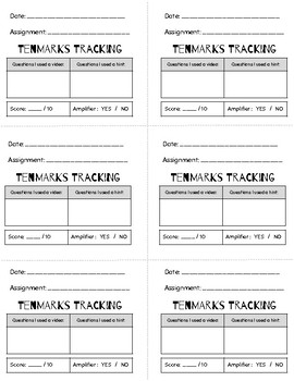 Tenmarks Tracker and Workspace