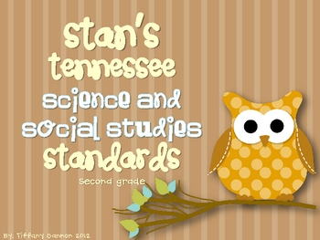 Tennesee Science and Social Studies Standards {Second Grade}