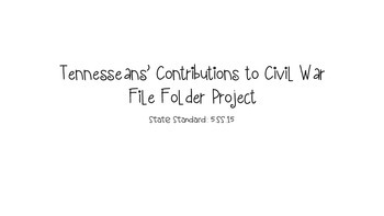 Tennesseans' Contributions to Civil War File Folder Project