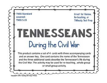 Tennesseans During the Civil War