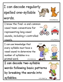 Tennessee 1st Grade I Can Statements Bundle - New Standards 2017!