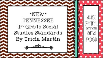 Tennessee 1st Grade Social Studies Standards