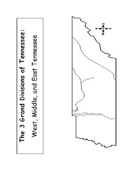 Tennessee 3 Grand Divisions Map