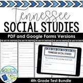 Tennessee 4th Grade Social Studies Test Bundle NEW Standards Print and Digital