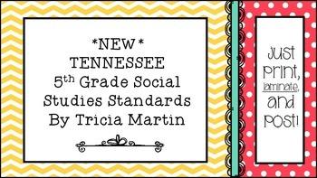 Tennessee 5th Grade Social Studies Standards