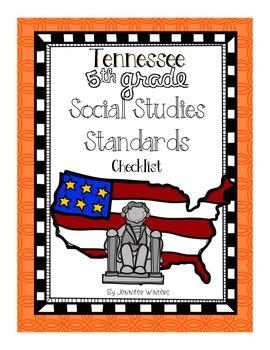 Tennessee 5th Grade Social Studies Standards Checklist