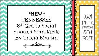 Tennessee 6th Grade Social Studies Standards