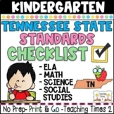 Tennessee Standards 2017- Kindergarten ELA-MATH-SCIENCE Teacher Binder Packet