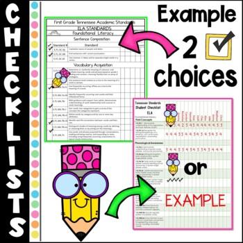 Tennessee Academic Standards Grade 1 ELA-MATH-SCIENCE-S.S. Teacher Binder Packet
