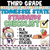Tennessee Academic Standards Gr.3 ELA-MATH-SCIENCE-S.S. Teacher Checklist Packet