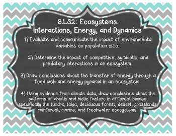 Tennessee Academic Standards for Science 6th grade