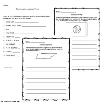 Tennessee Activity Packet