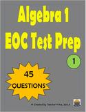 Algebra 1 EOC Test Prep Compilation 1 (45 Questions)