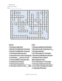 Tennessee Basic Facts Crossword Puzzle