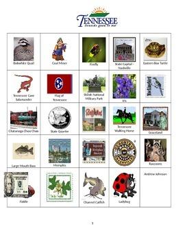 Tennessee Bingo:  State Symbols and Popular Sites