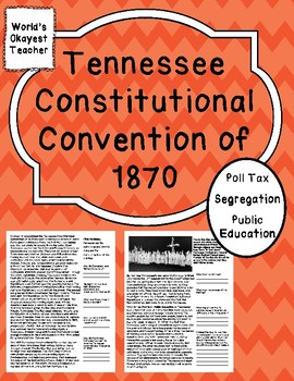 Tennessee Constitutional Convention 1870