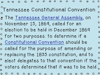 Tennessee Constitutional Convention Impact- An introductory lesson (5.24)