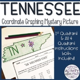 Tennessee Coordinate Graphing Picture First Quadrant & ALL 4 Quadrants