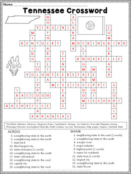 Tennessee Crossword Puzzle