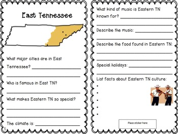 Tennessee Culture Booklet- Learning About the Three Grand Divisions