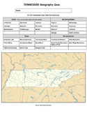 Tennessee Geography Quiz