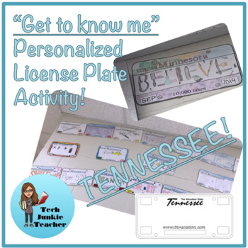Tennessee Get to Know Me License Plate Activity