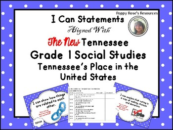 Tennessee Grade 1 Social Studies I Can Statements