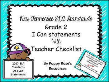 Tennessee Grade 2  ELA I Can Statements - New Standards 2017