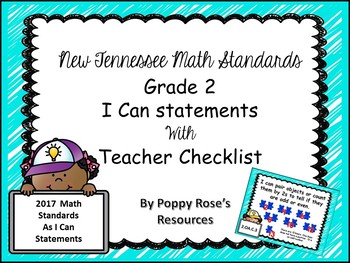 Tennessee Grade 2 Math I Can Statements - New Standards 2017