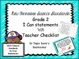 Tennessee Grade 2 Science I Can Statements New for 2018-2019