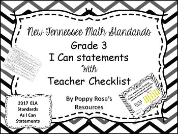 Tennessee Grade 3 Math I Can Statements - New Standards 2017
