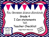 Tennessee Grade 4 Science I Can Statements New for 2018-2019