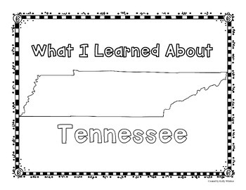 Tennessee Graphic Organizers (Perfect for KWL charts and geography!)