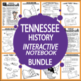 Tennessee History–Interactive Notebook Tennessee State Study Unit + AUDIO!