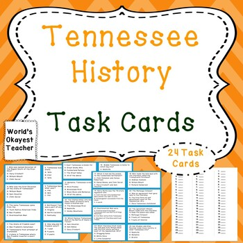 Tennessee History Task Cards