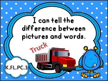 Tennessee Kindergarten ELA I Can Statements - Monster Theme