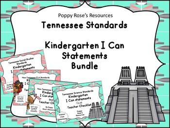Tennessee Kindergarten I Can Statements Bundle